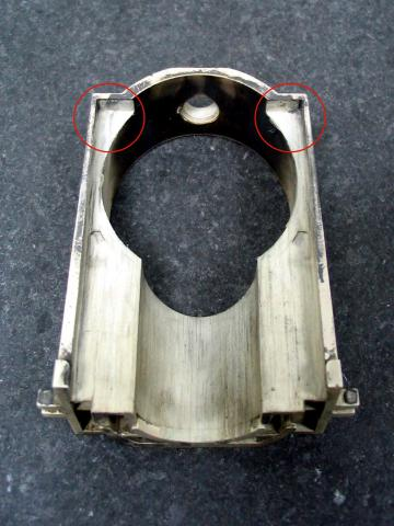 BST40 slide guide from KTM 640 LC4, <20,000 miles claimed, drilled slide lift hole, all depressions worn away